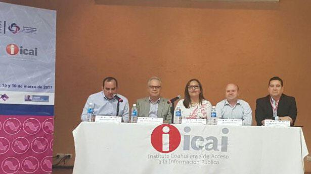 """COMISIONADO PRESIDENTE DE IDAIPQROO PARTICIPA EN FORO """"ARCHIVOS. CONDICIÓN PARA EL FUNCIONAMIENTO DE LOS SISTEMAS NACIONALES: TRANSPARENCIA, RENDICIÓN DE CUENTAS Y ARMONIZACIÓN LEGISLATIVA EN MATERIA DE PROTECCIÓN DE DATOS PERSONALES"""" EN COAHUILA DE ZARAGOZA"""