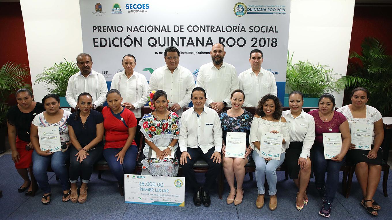 IDAIPQROO PARTICIPA EN ENTREGA DEL PREMIO NACIONAL DE CONTRALORÍA SOCIAL QUINTANA ROO 2018