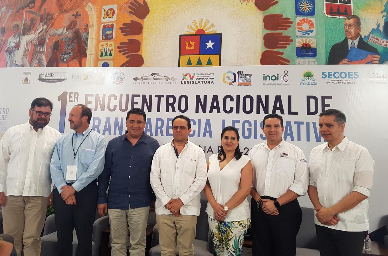 COMISIONADO PRESIDENTE DE IDAIPQROO PARTICIPA EN EL PRIMER ENCUENTRO NACIONAL DE TRANSPARENCIA LEGISLATIVA