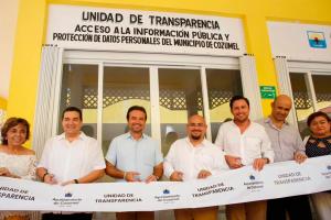 IDAIPQROO ASISTE A INAUGURACIÓN DE UNIDAD DE TRANSPARENCIA DE LA ISLA DE COZUMEL