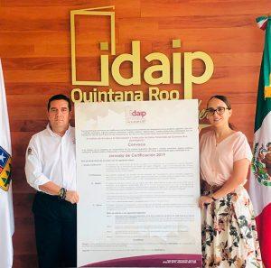 CONVOCA IDAIPQROO A TITULARES DE UNIDADES DE TRANSPARENCIA A LA JORNADA DE CERTIFICACIÓN 2019