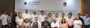 IDAIPQROO Y AYUNTAMIENTO DE COZUMEL SIGNAN CONVENIO DE COLABORACIÓN EN MATERIA DE TRANSPARENCIA Y ACCESO A LA INFORMACIÓN PÚBLICA