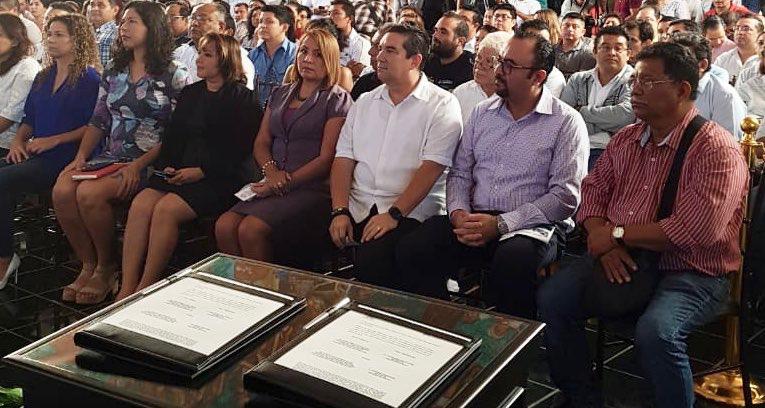 ASISTE COMISIONADO PRESIDENTE DEL IDAIPQROO A FIRMA DEL CONVENIO PARLAMENTO ABIERTO ENTRE PODER LEGISLATIVO Y ASOCIACIÓN CIVIL OBSERVATORIO QUINTANA ROO A.C