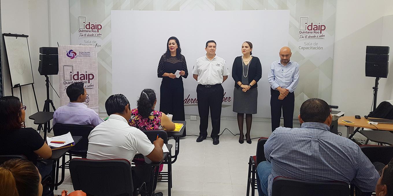IDAIPQROO E INAI CAPACITAN A 136 SERVIDORES PÚBLICOS SOBRE LA PLATAFORMA NACIONAL DE TRANSPARENCIA