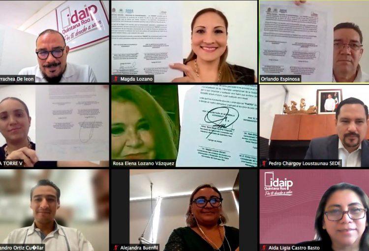 FIRMAN CONVENIO IDAIPQROO Y SEDEQROO SOBRE CAPACITACIÓN EN MATERIA DE MEJORA REGULATORIA