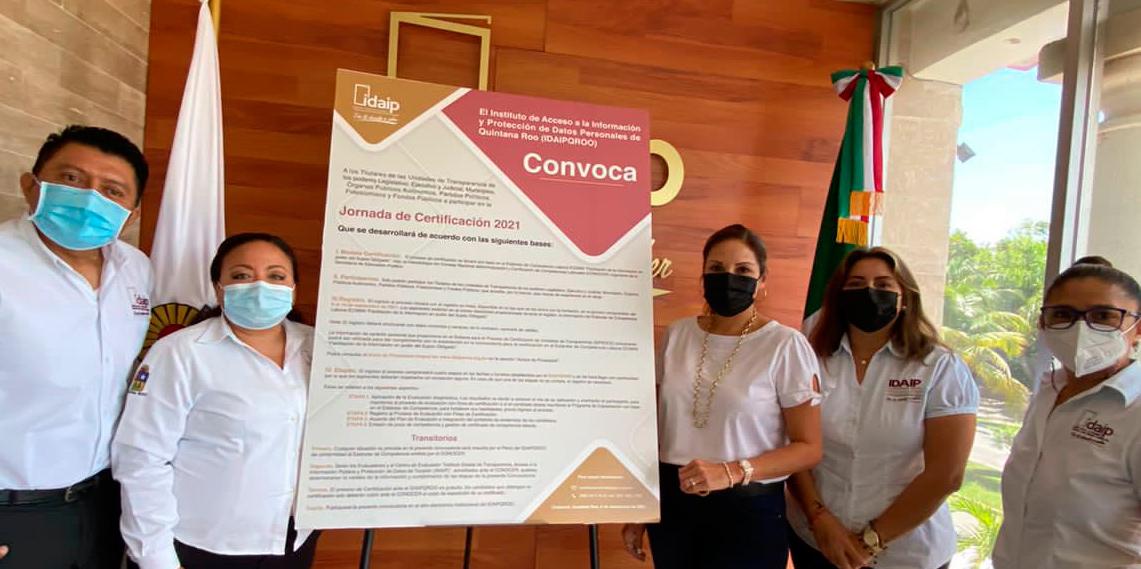 IDAIPQRO REALIZA LANZAMIENTO DE JORNADA DE CERTIFICACIÓN 2021 DIRIGIDA A TITULARES DE UNIDADES DE TRANSPARENCIA